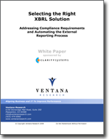 Selecting the Right XBRL Solution