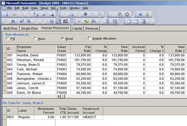 microsoft budget software